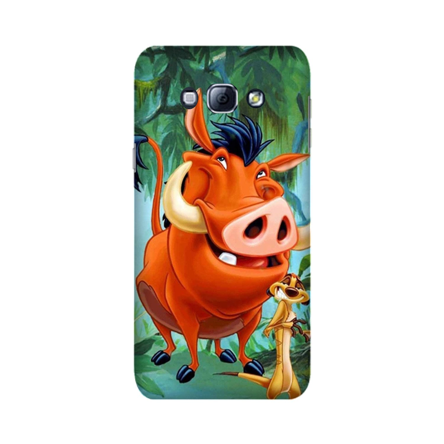 Timon and Pumbaa Mobile Back Case for Galaxy A8 (2015)  (Design - 305)