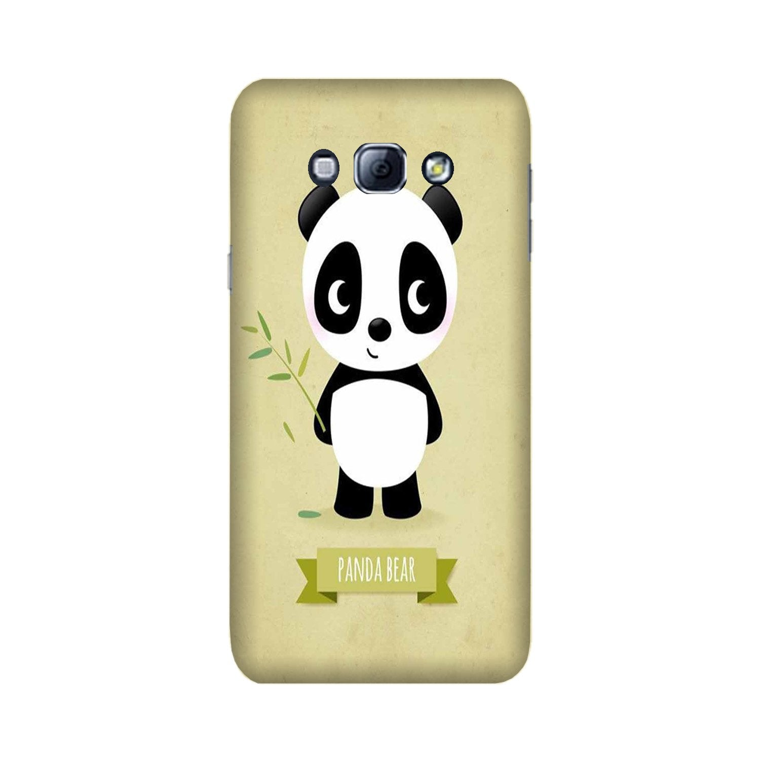 Panda Bear Mobile Back Case for Galaxy A8 (2015)  (Design - 317)