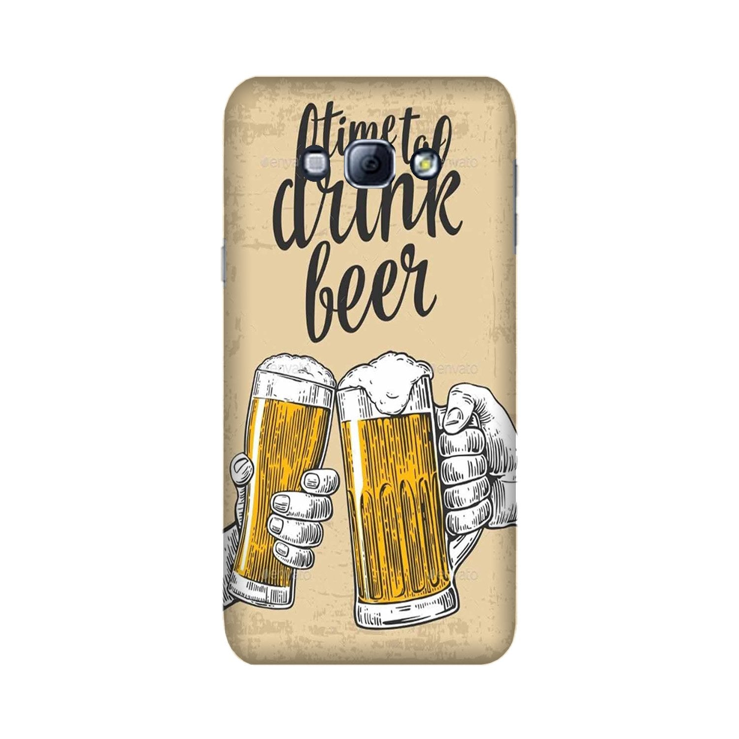 Drink Beer Mobile Back Case for Galaxy A8 (2015)  (Design - 328)