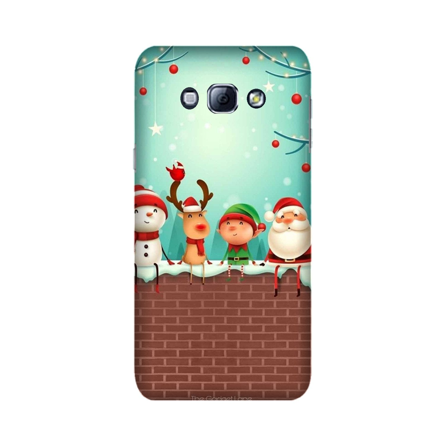 Santa Claus Mobile Back Case for Galaxy A8 (2015)  (Design - 334)