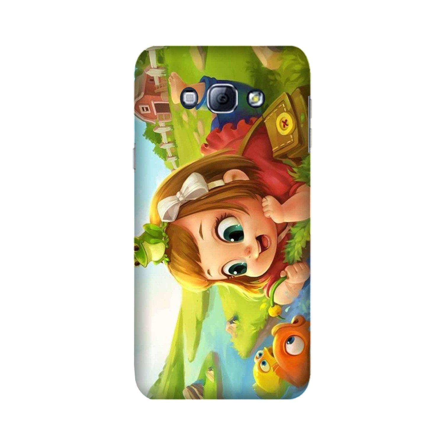 Baby Girl Mobile Back Case for Galaxy A8 (2015)  (Design - 339)