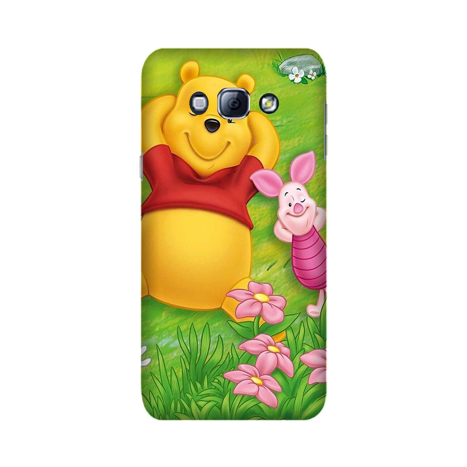 Winnie The Pooh Mobile Back Case for Galaxy A8 (2015)  (Design - 348)