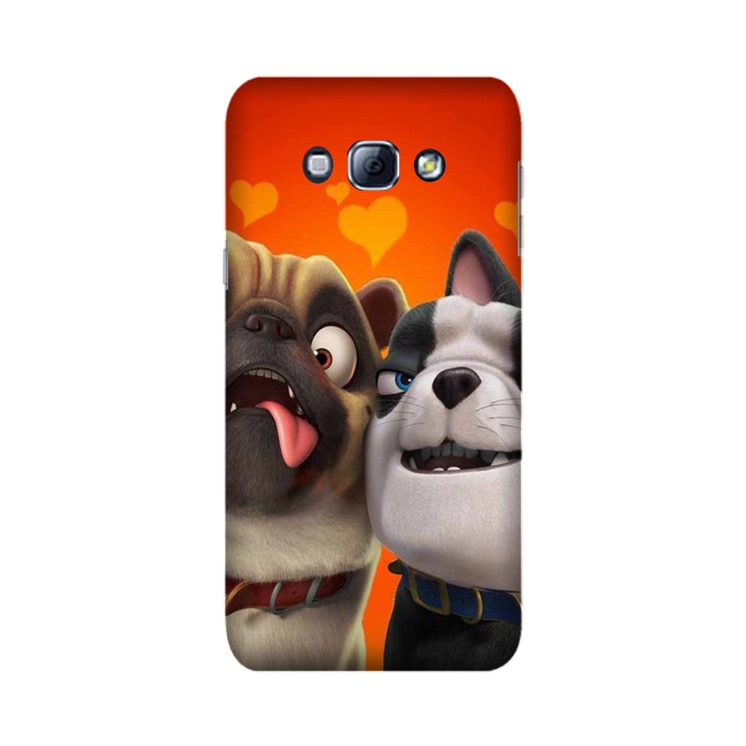 Dog Puppy Mobile Back Case for Galaxy A8 (2015)  (Design - 350)