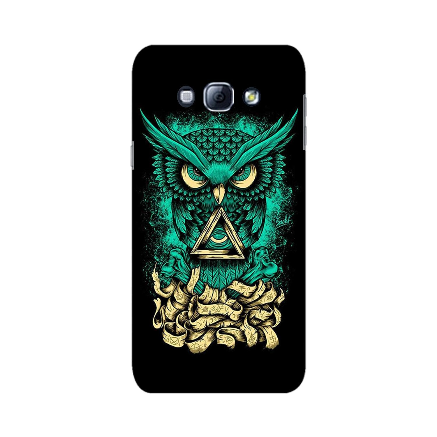 Owl Mobile Back Case for Galaxy A8 (2015)  (Design - 358)