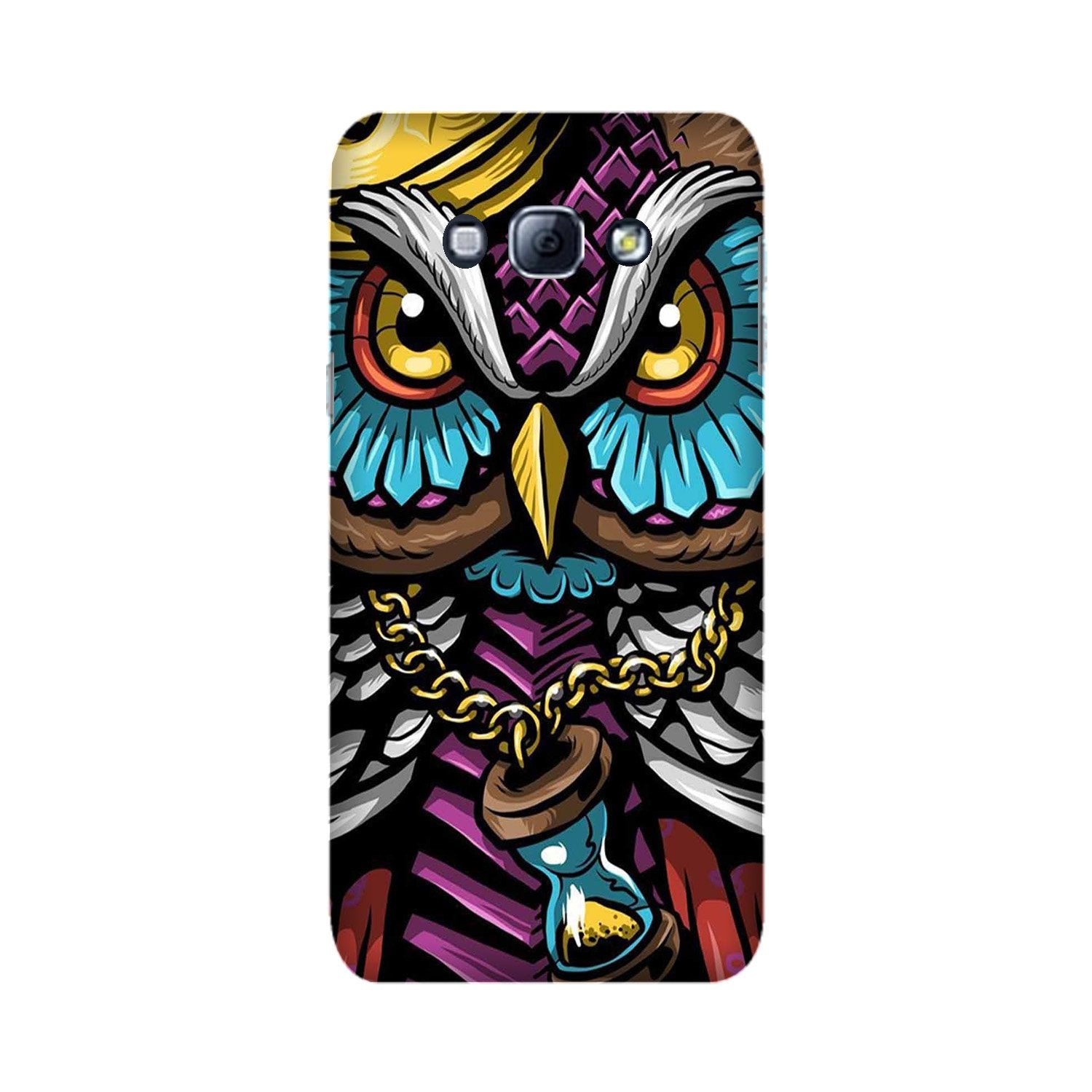 Owl Mobile Back Case for Galaxy A8 (2015)  (Design - 359)