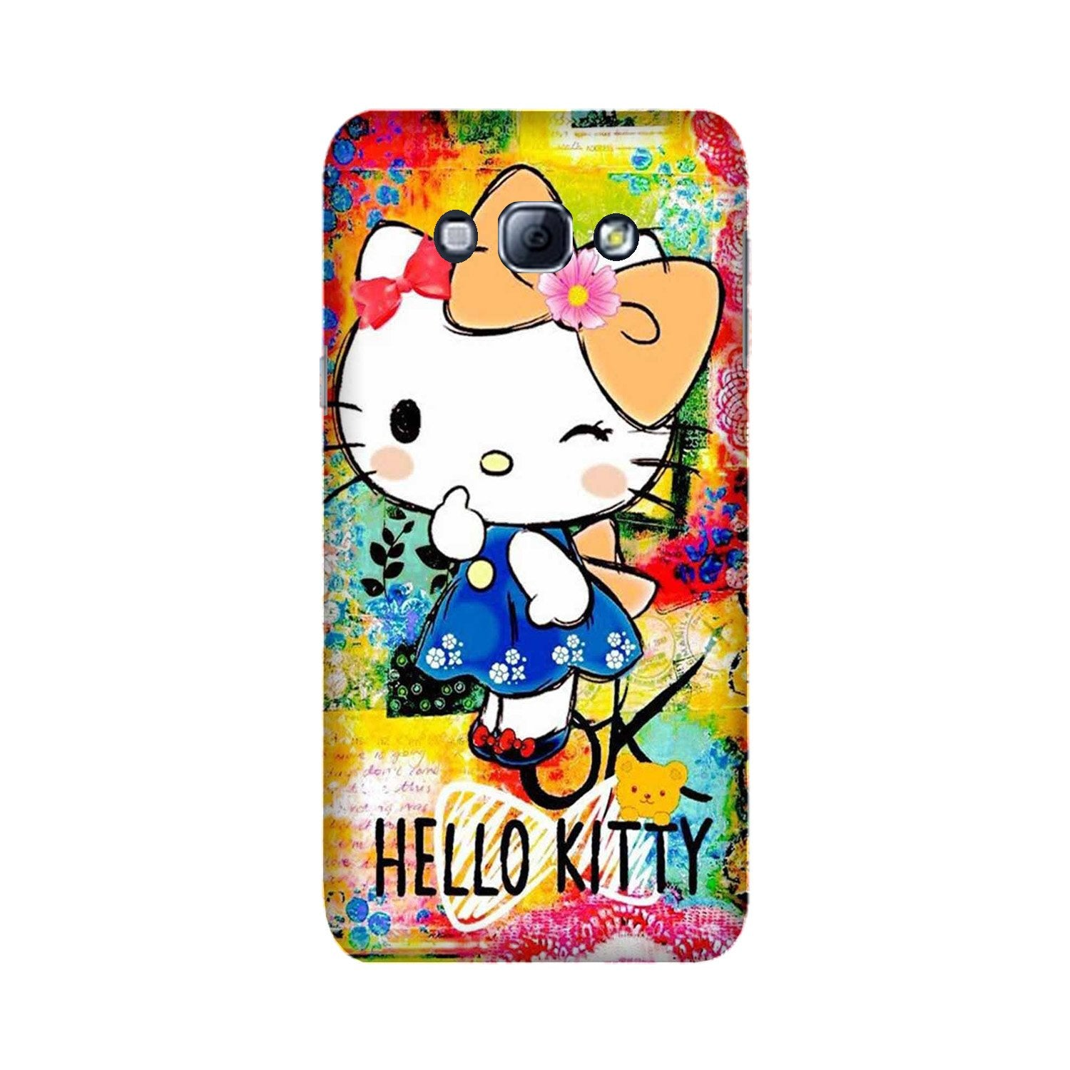 Hello Kitty Mobile Back Case for Galaxy A8 (2015)  (Design - 362)