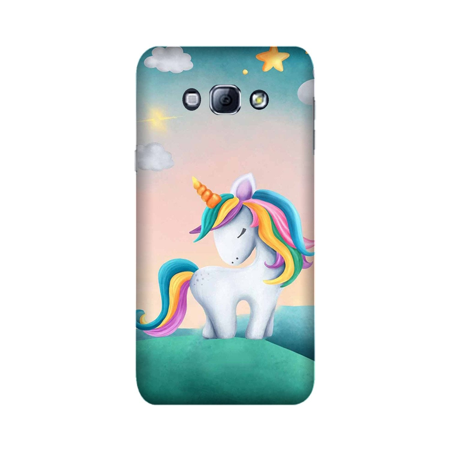 Unicorn Mobile Back Case for Galaxy A8 (2015)  (Design - 366)