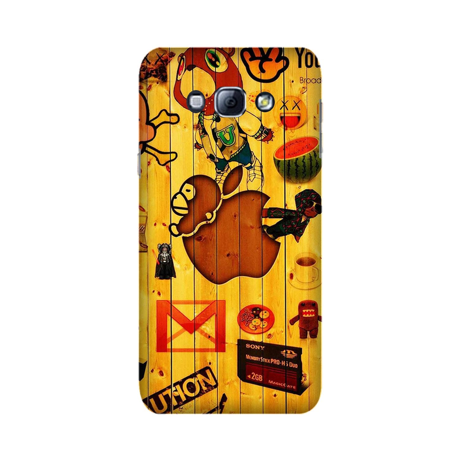 Wooden Texture Mobile Back Case for Galaxy A8 (2015)  (Design - 367)
