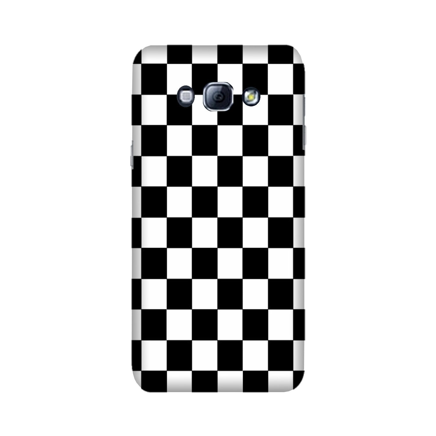 Black White Boxes Mobile Back Case for Galaxy A8 (2015)  (Design - 372)