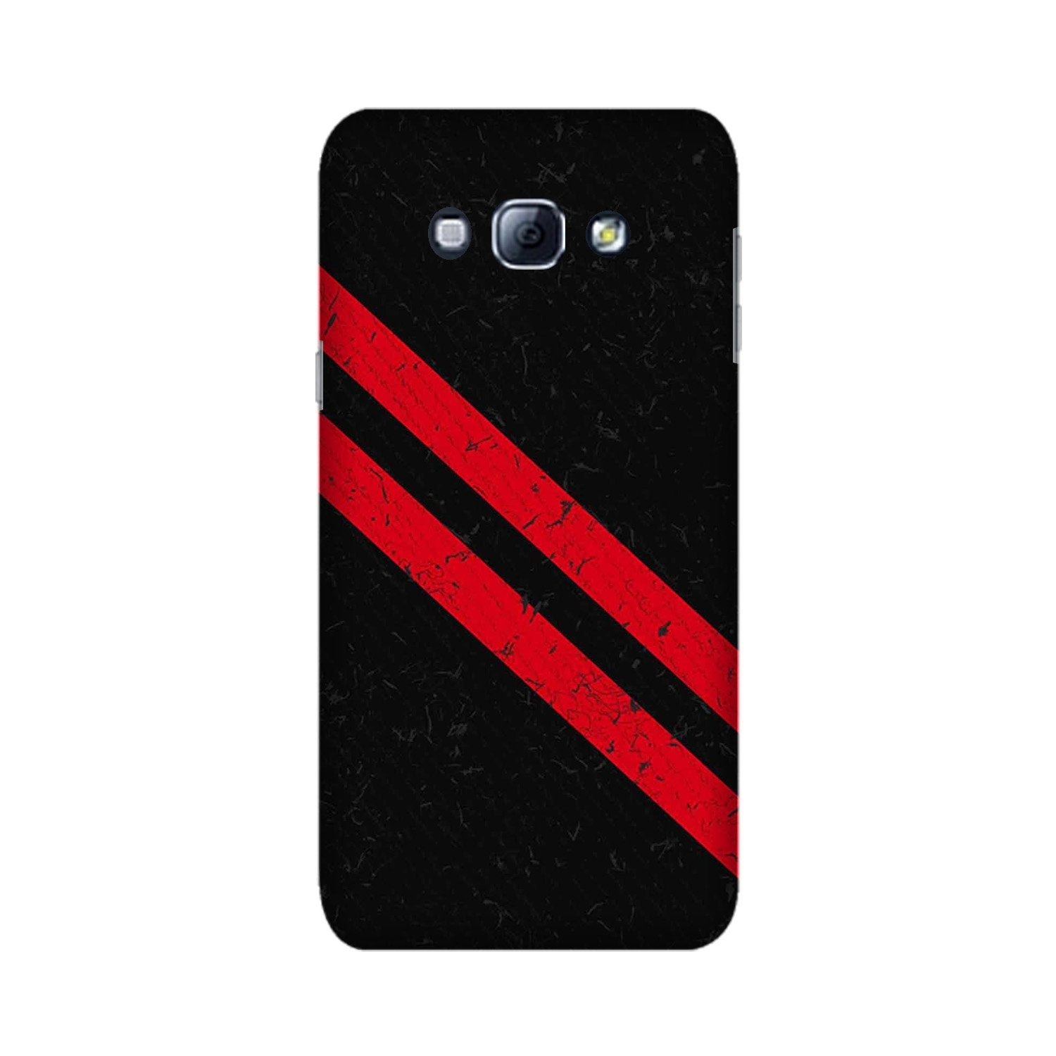 Black Red Pattern Mobile Back Case for Galaxy A8 (2015)  (Design - 373)