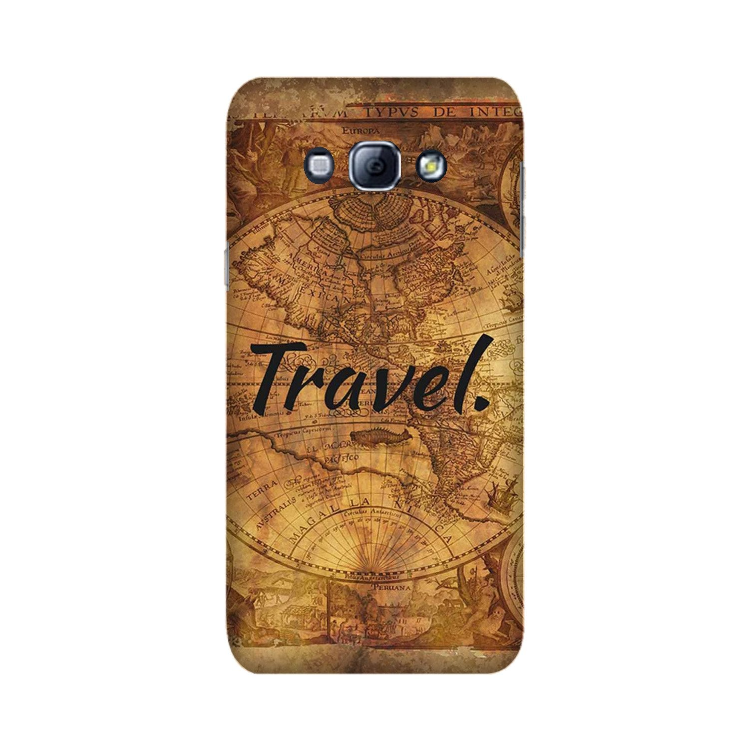 Travel Mobile Back Case for Galaxy A8 (2015)  (Design - 375)