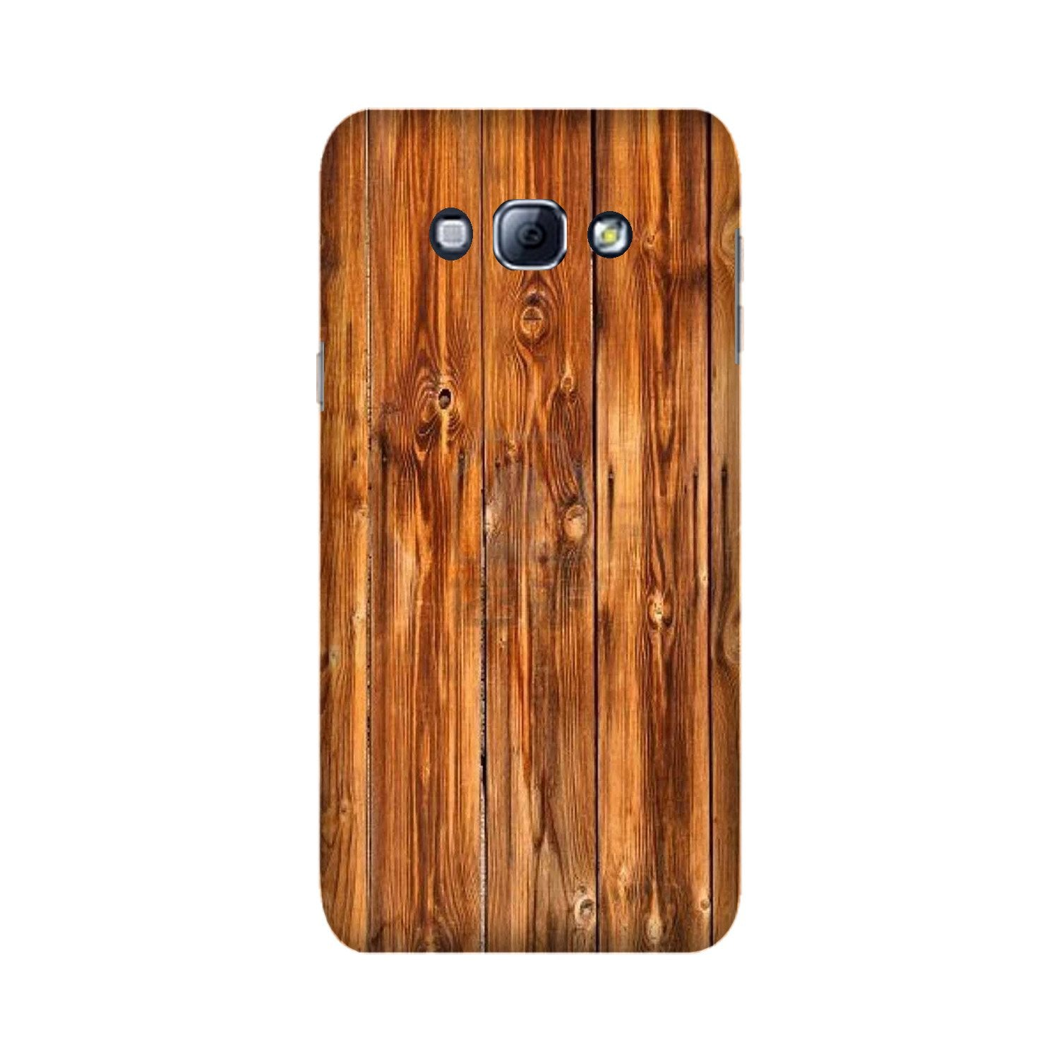 Wooden Texture Mobile Back Case for Galaxy A8 (2015)  (Design - 376)