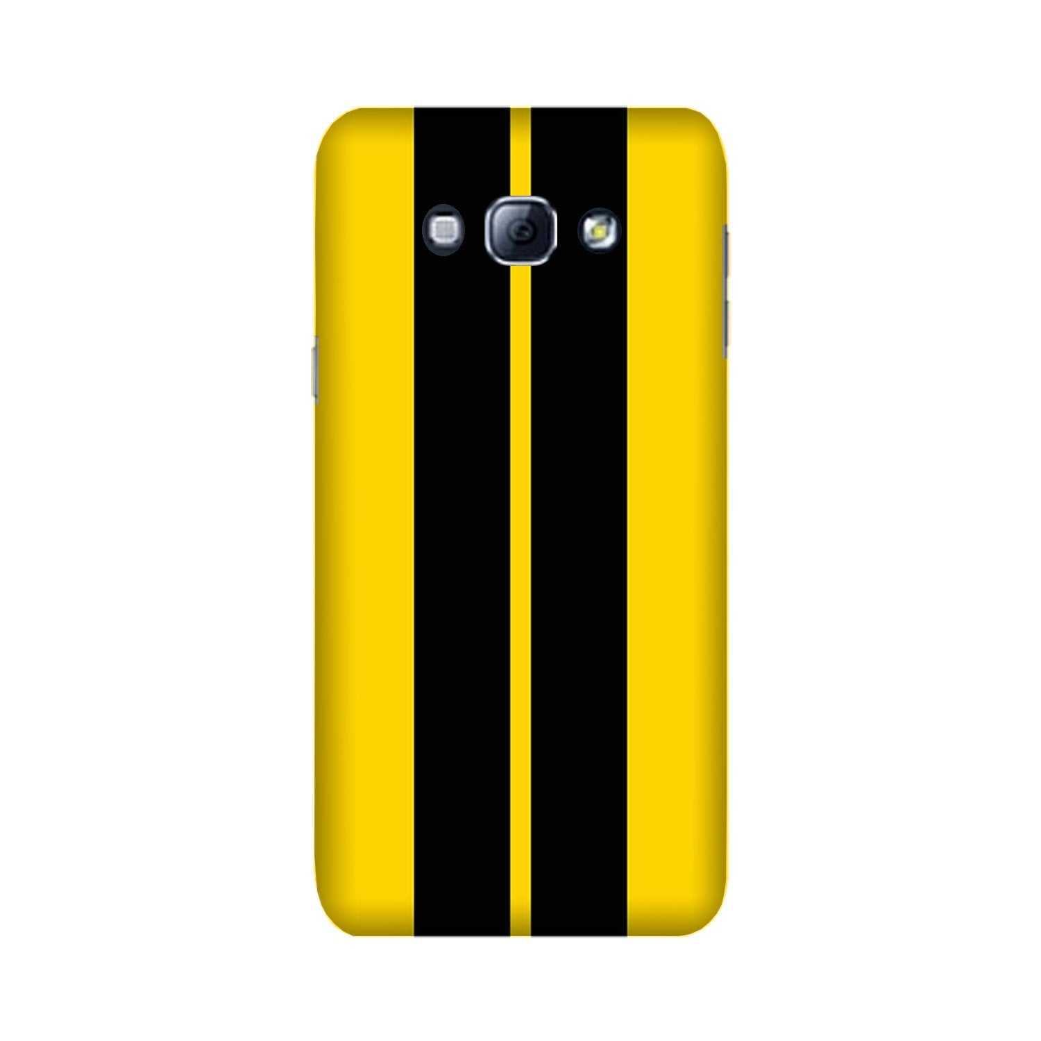 Black Yellow Pattern Mobile Back Case for Galaxy A8 (2015)  (Design - 377)