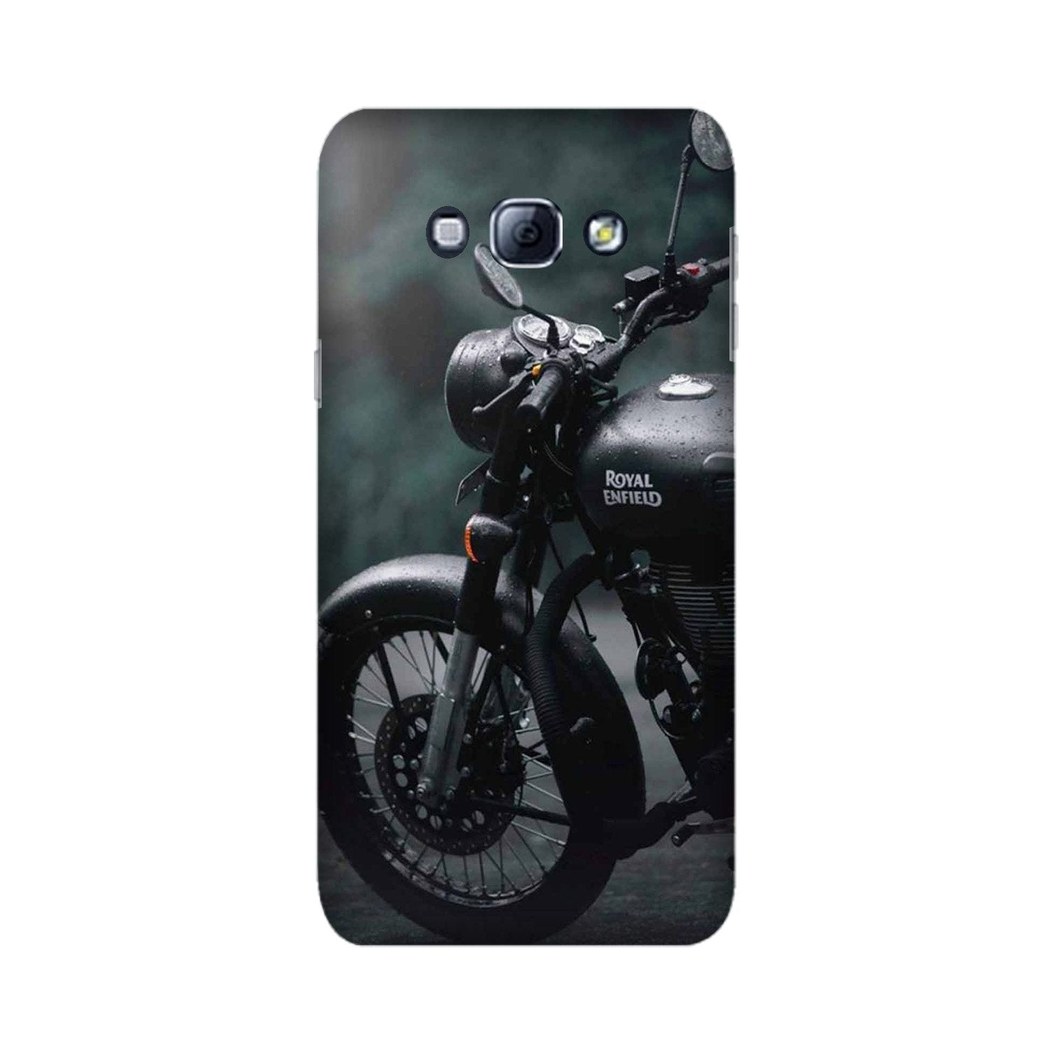 Royal Enfield Mobile Back Case for Galaxy A8 (2015)  (Design - 380)