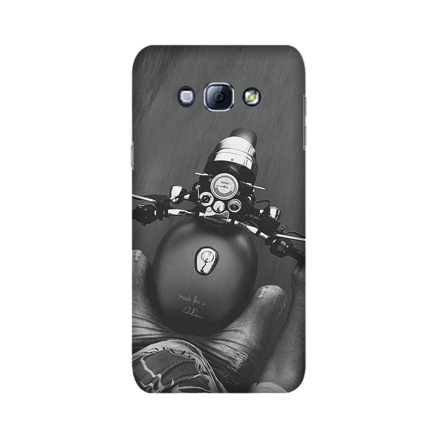 Royal Enfield Mobile Back Case for Galaxy A8 (2015)  (Design - 382)