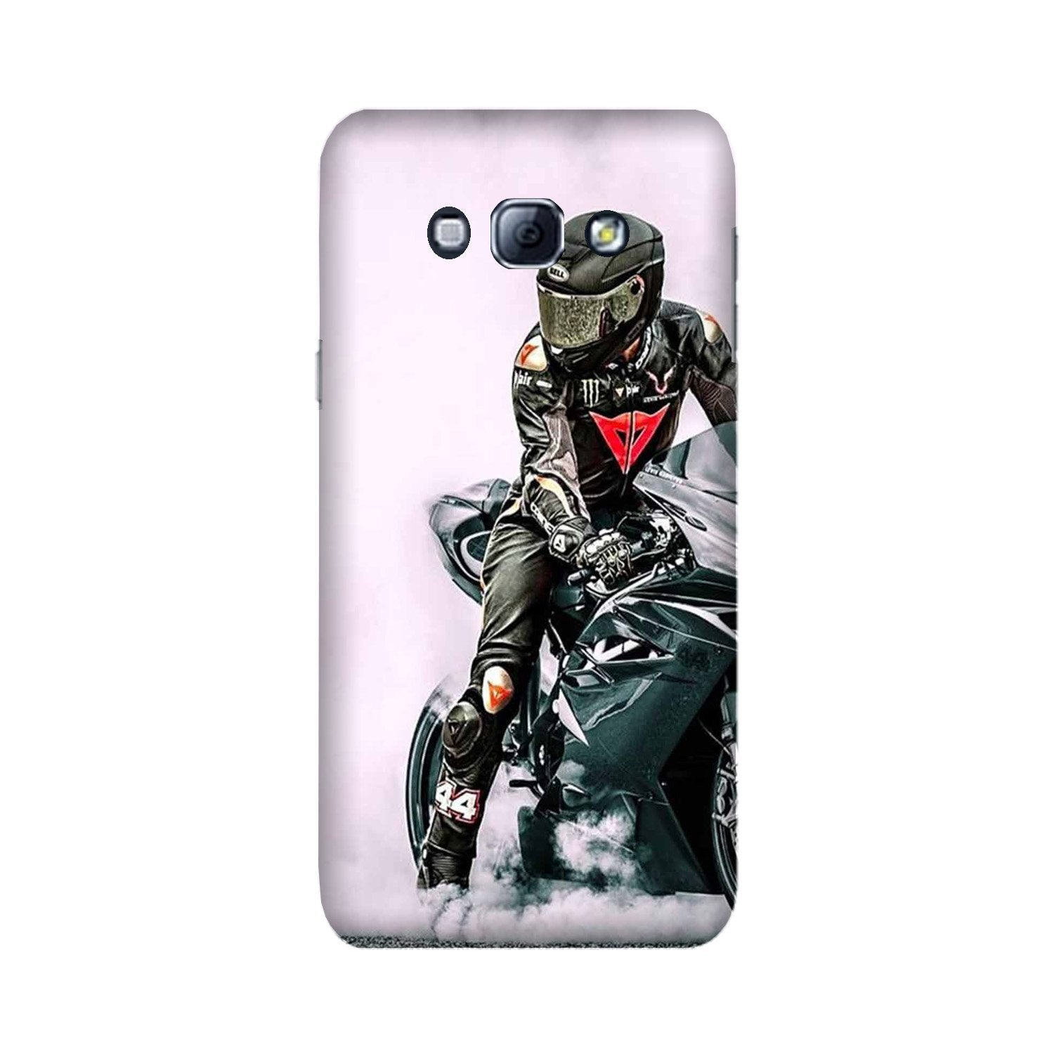 Biker Mobile Back Case for Galaxy A8 (2015)  (Design - 383)