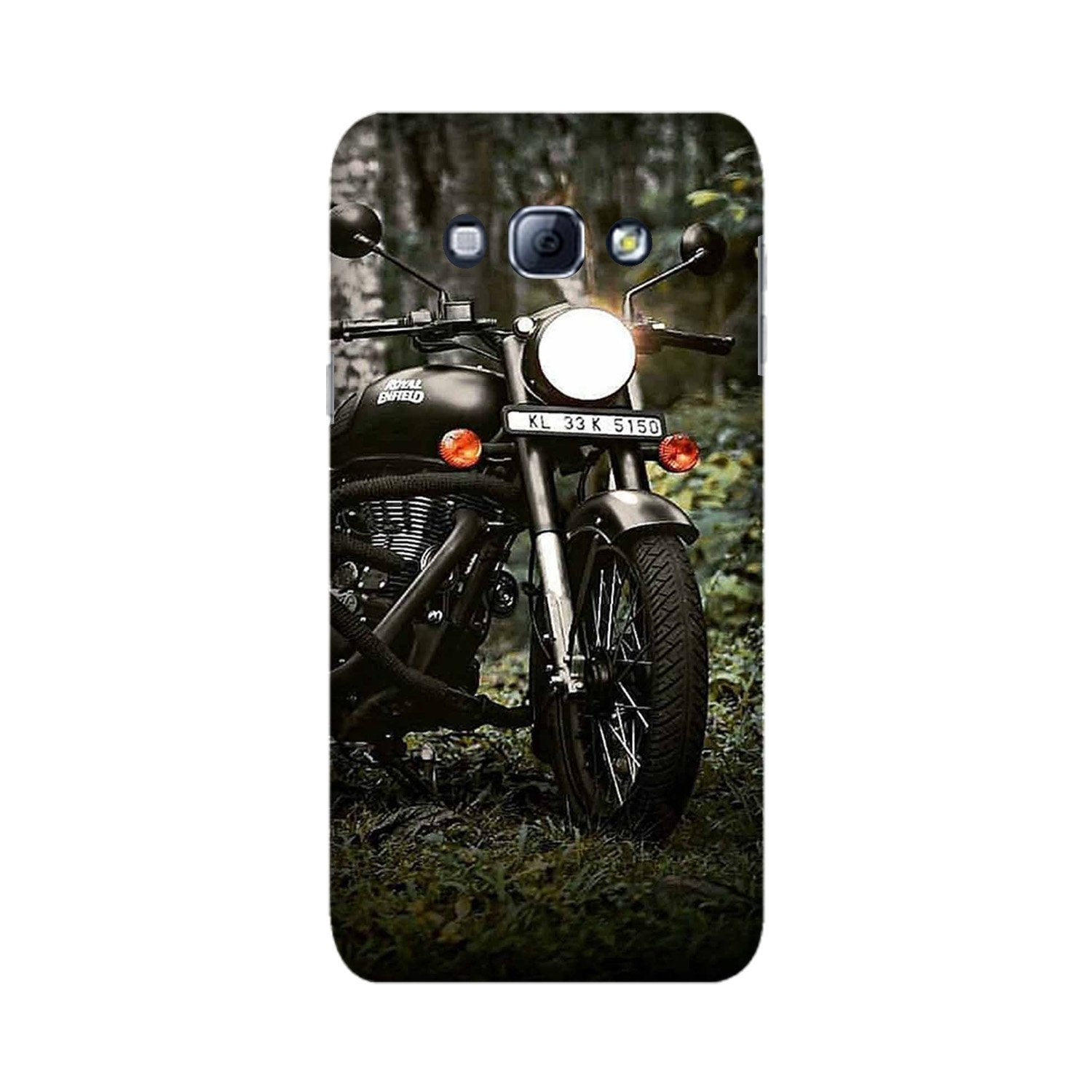Royal Enfield Mobile Back Case for Galaxy A8 (2015)  (Design - 384)