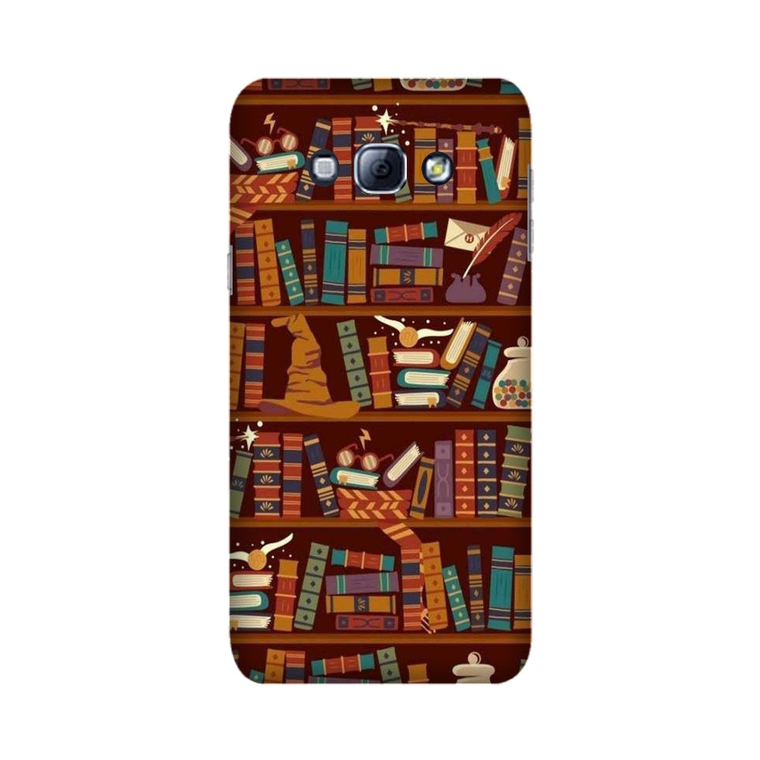 Book Shelf Mobile Back Case for Galaxy A8 (2015)  (Design - 390)