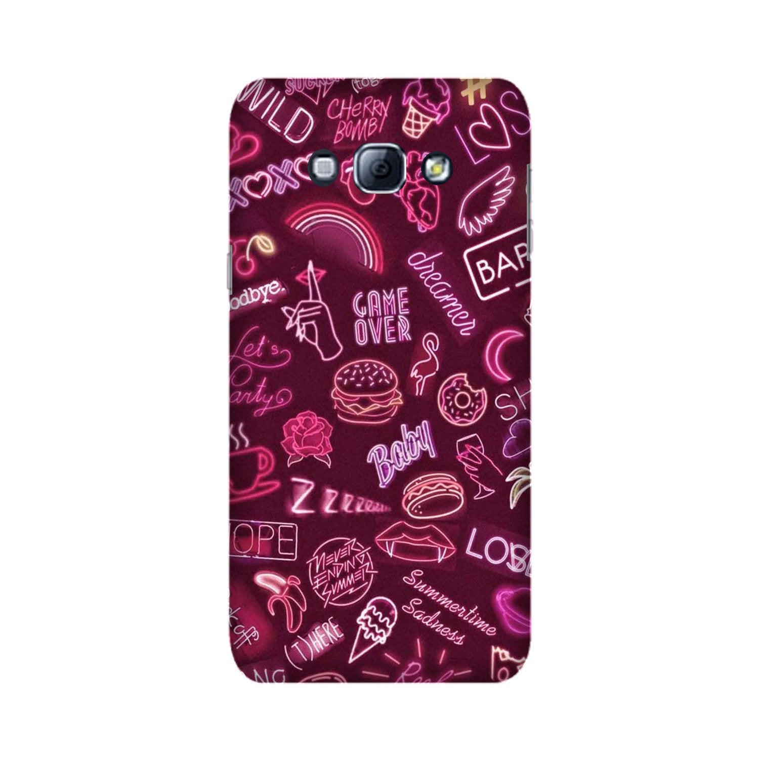 Party Theme Mobile Back Case for Galaxy A8 (2015)  (Design - 392)