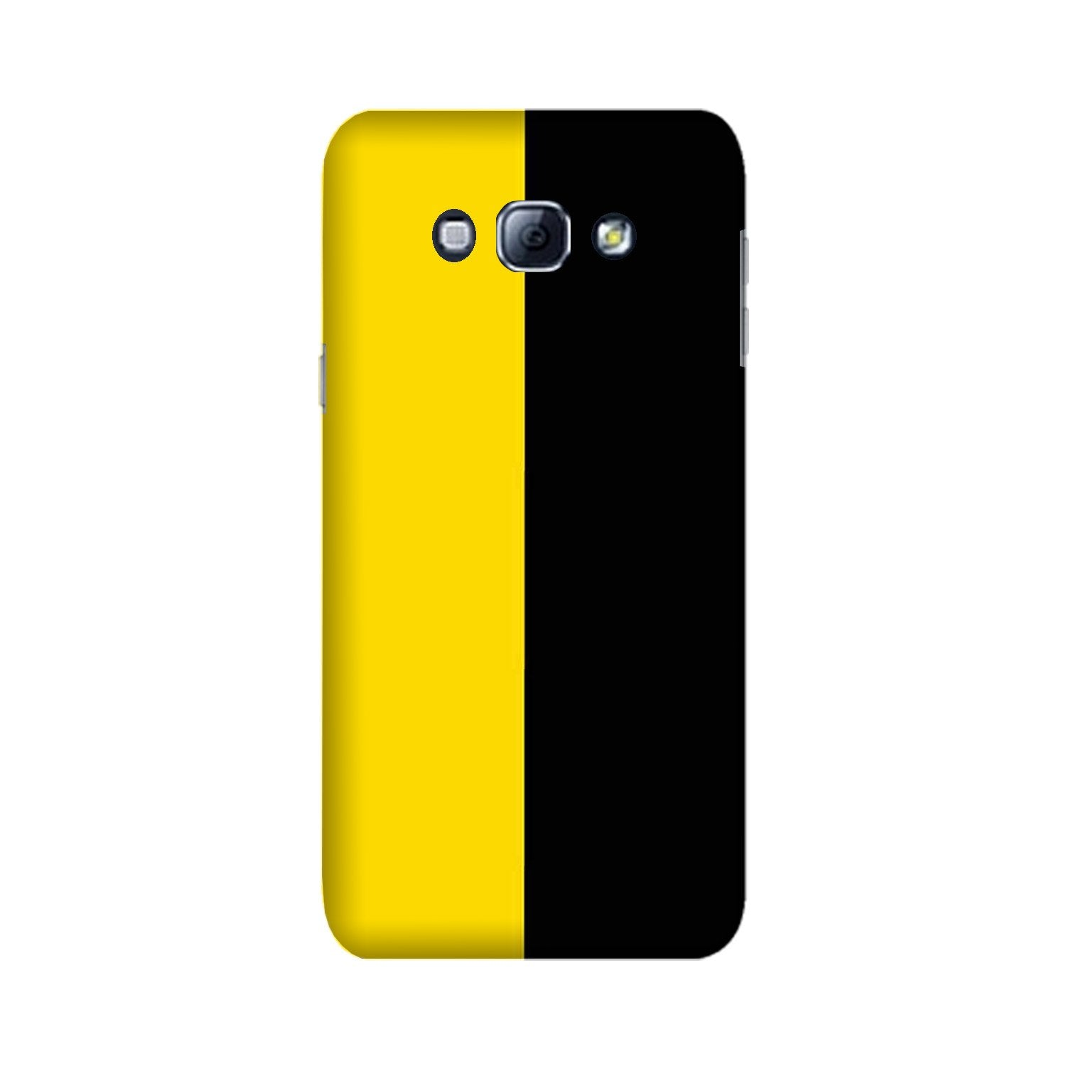 Black Yellow Pattern Mobile Back Case for Galaxy A8 (2015)  (Design - 397)