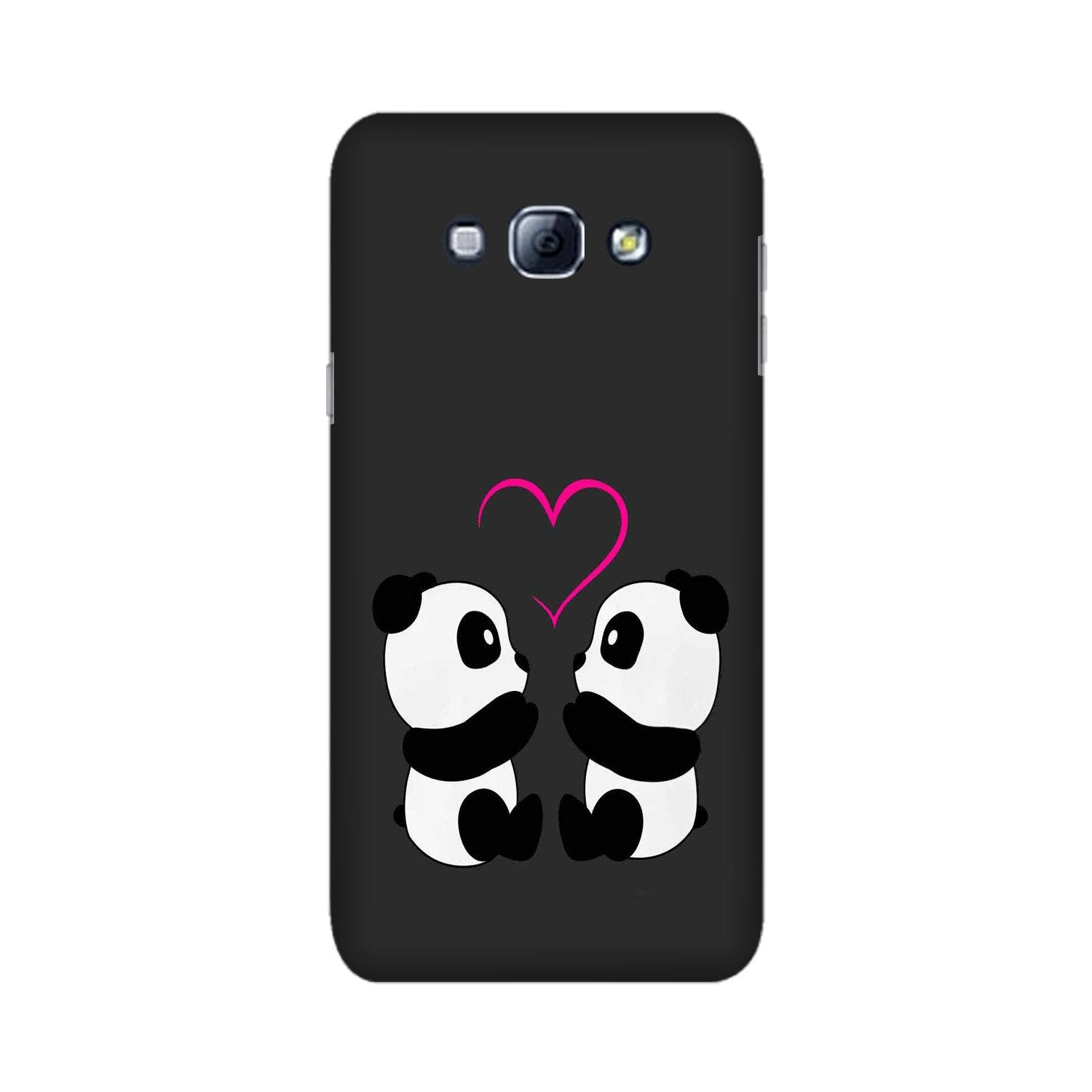 Panda Love Mobile Back Case for Galaxy A8 (2015)  (Design - 398)