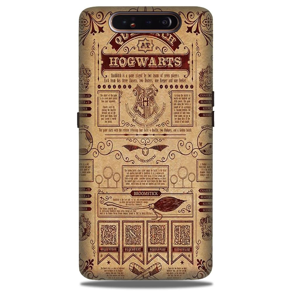 Hogwarts Mobile Back Case for Samsung Galaxy A90  (Design - 304)