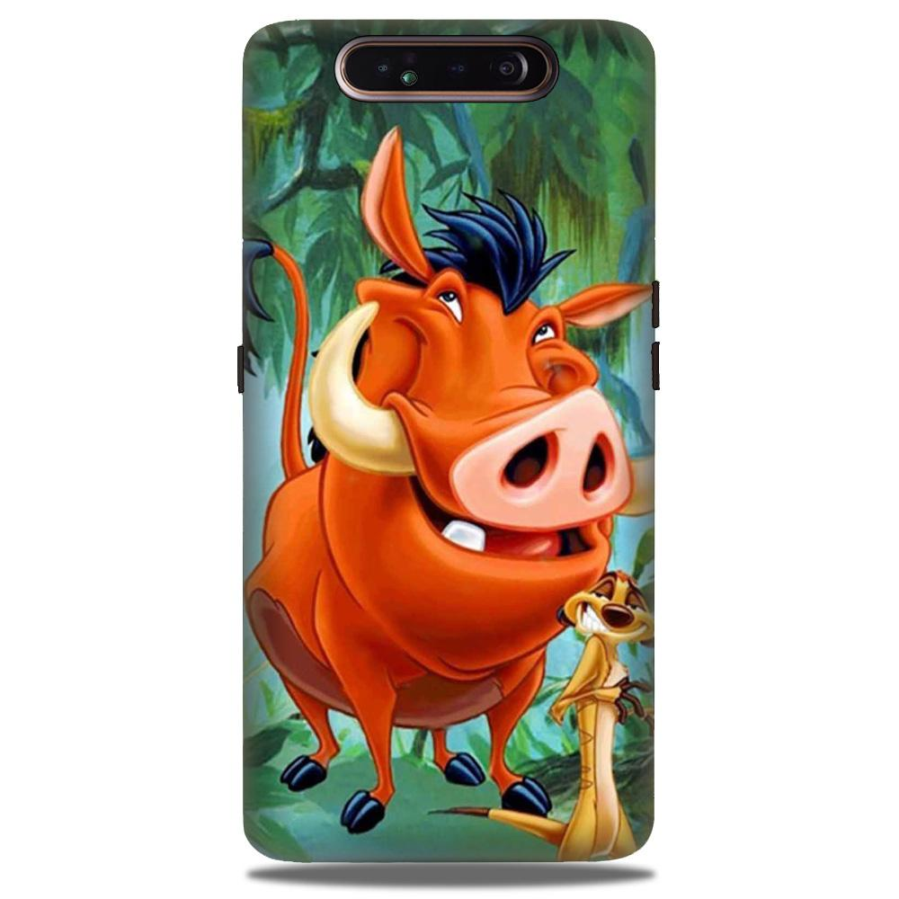 Timon and Pumbaa Mobile Back Case for Samsung Galaxy A90  (Design - 305)
