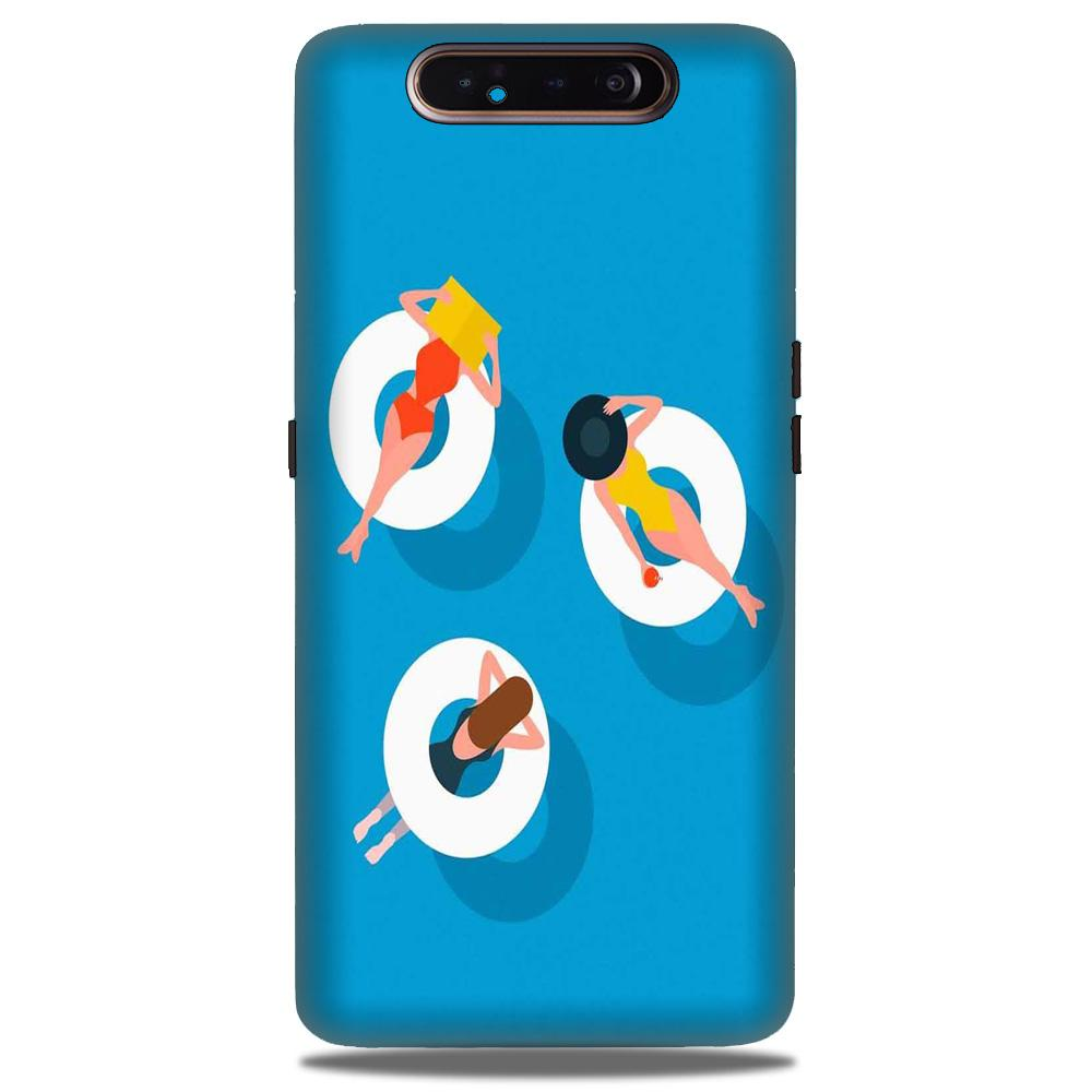 Girlish Mobile Back Case for Samsung Galaxy A90  (Design - 306)