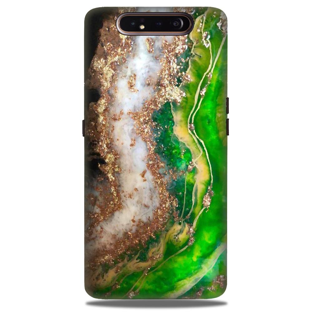Marble Texture Mobile Back Case for Samsung Galaxy A90  (Design - 307)