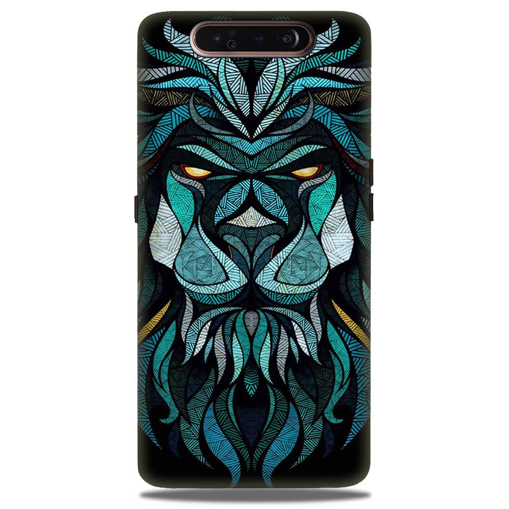 Lion Mobile Back Case for Samsung Galaxy A90  (Design - 314)