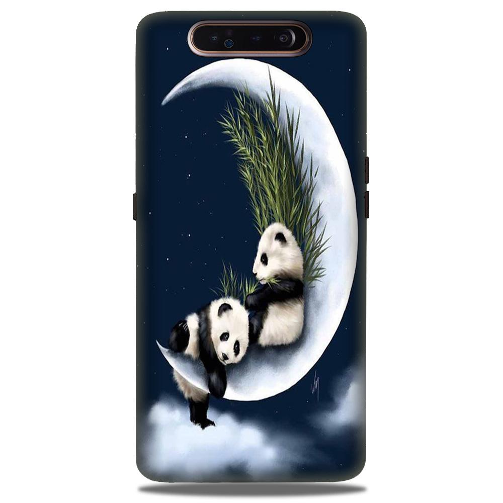 Panda Moon Mobile Back Case for Samsung Galaxy A90  (Design - 318)