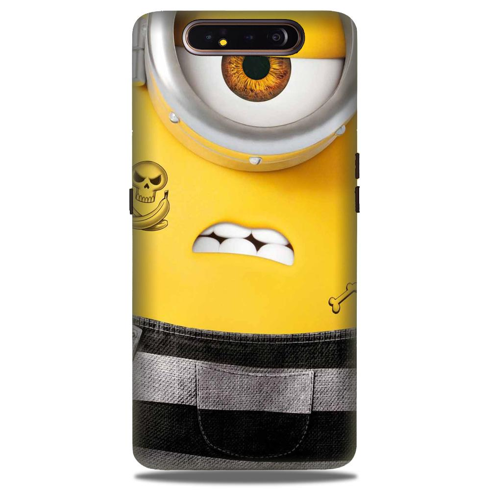 Minion Mobile Back Case for Samsung Galaxy A90  (Design - 324)