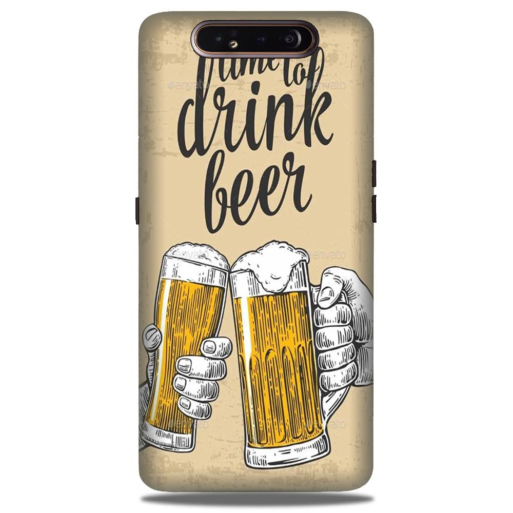 Drink Beer Mobile Back Case for Samsung Galaxy A90  (Design - 328)