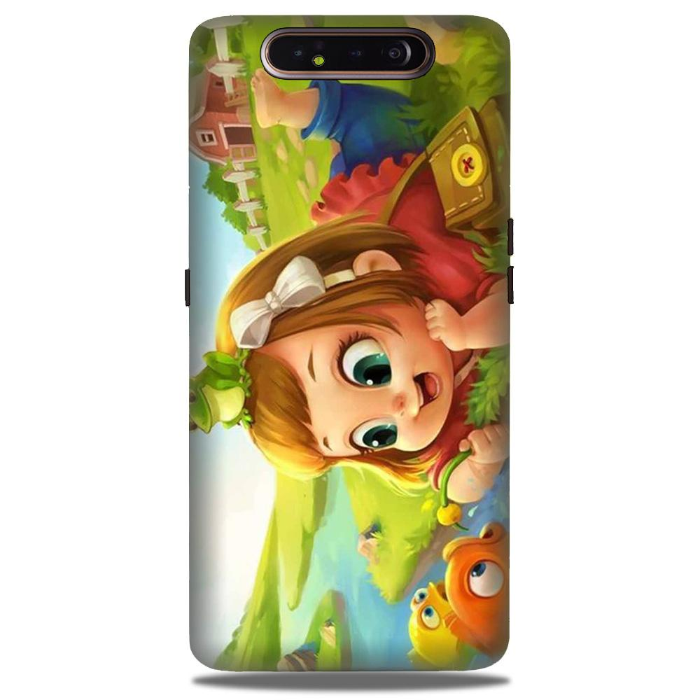 Baby Girl Mobile Back Case for Samsung Galaxy A90  (Design - 339)