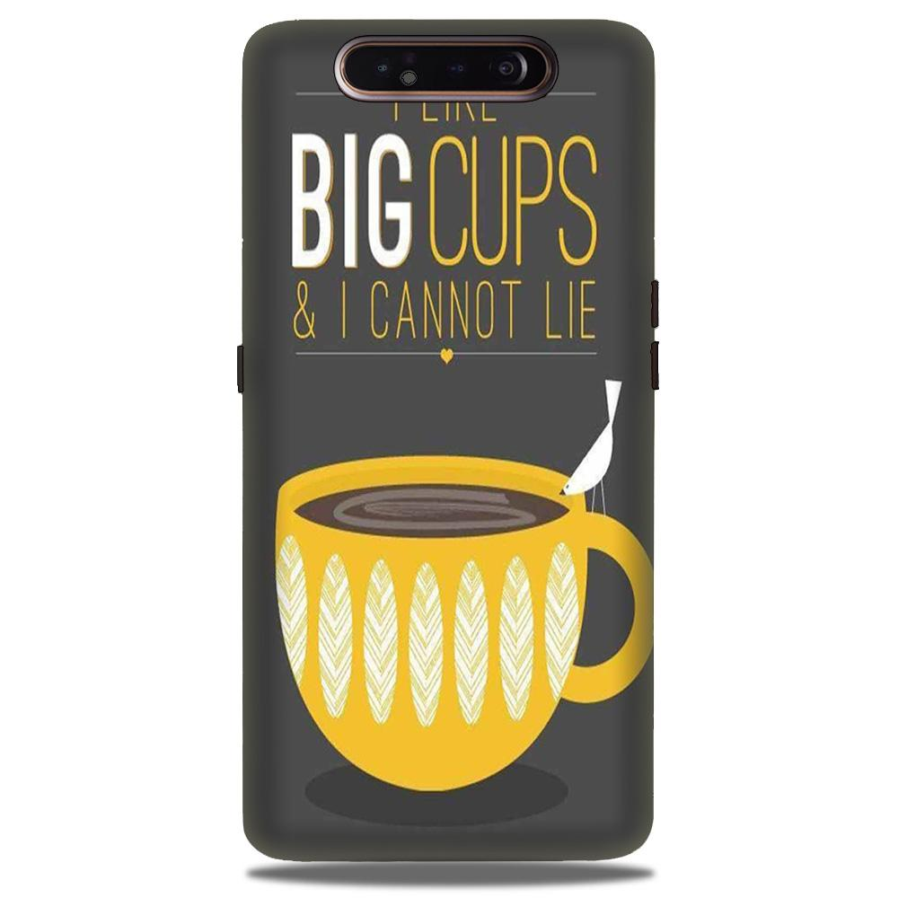 Big Cups Coffee Mobile Back Case for Samsung Galaxy A90  (Design - 352)