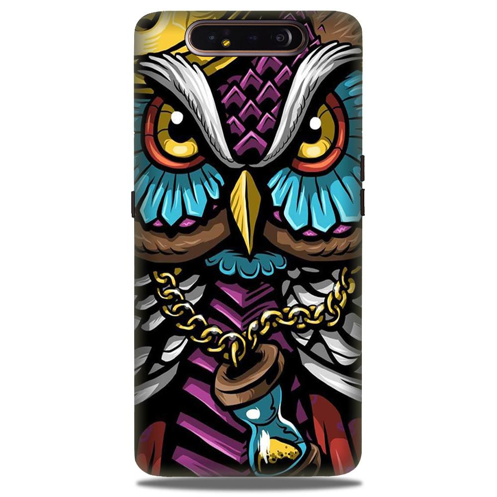 Owl Mobile Back Case for Samsung Galaxy A90  (Design - 359)