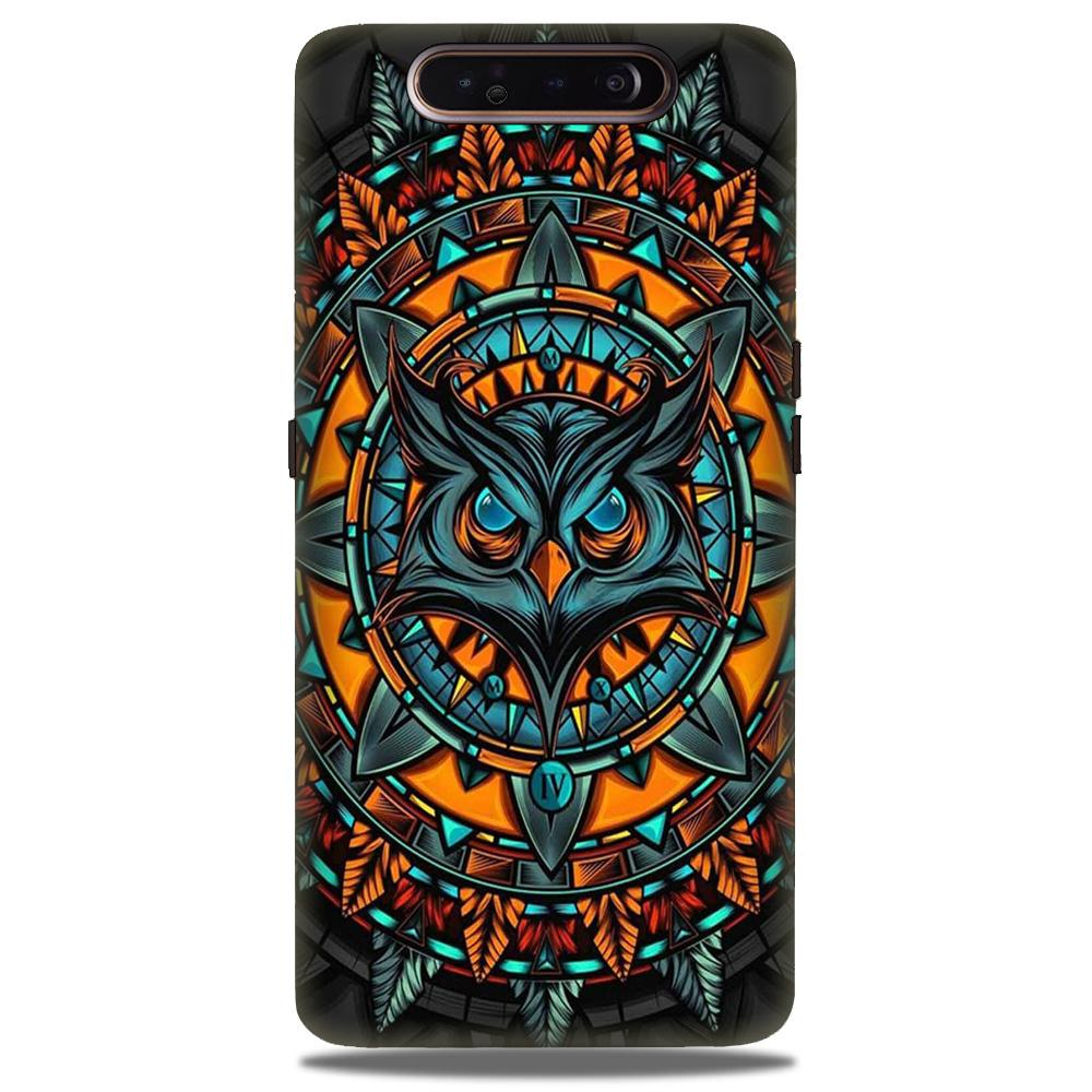 Owl Mobile Back Case for Samsung Galaxy A90  (Design - 360)