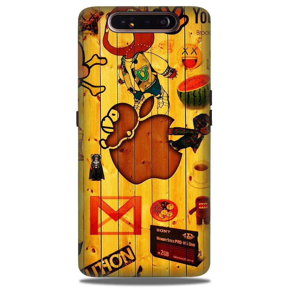 Wooden Texture Mobile Back Case for Samsung Galaxy A90  (Design - 367)