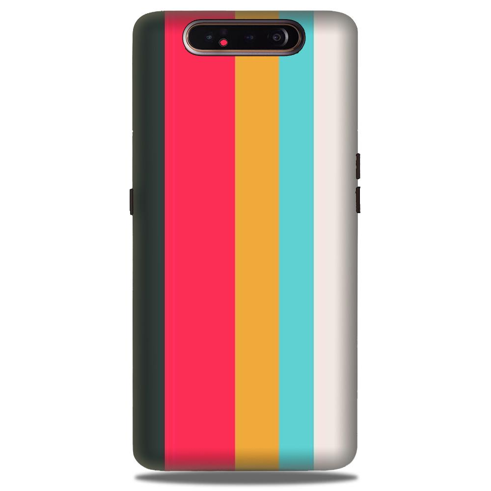 Color Pattern Mobile Back Case for Samsung Galaxy A90  (Design - 369)