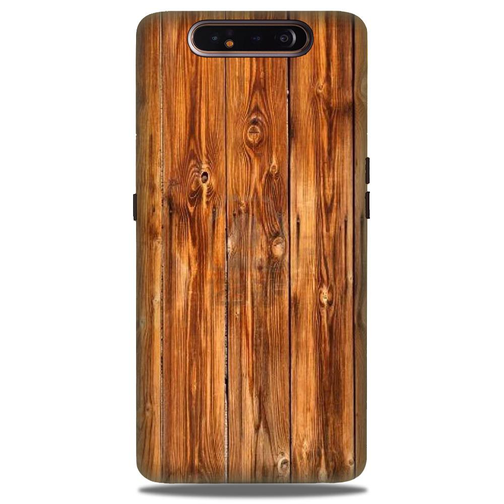 Wooden Texture Mobile Back Case for Samsung Galaxy A90  (Design - 376)