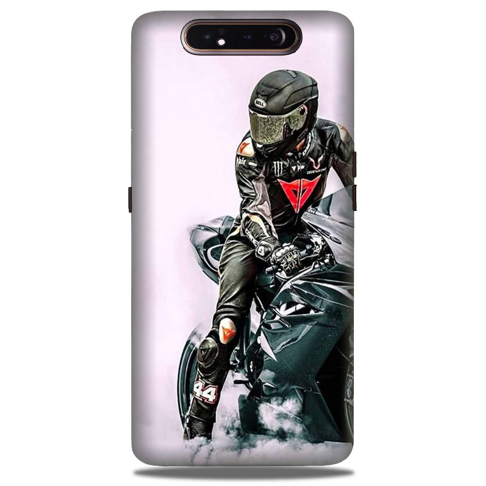 Biker Mobile Back Case for Samsung Galaxy A90  (Design - 383)