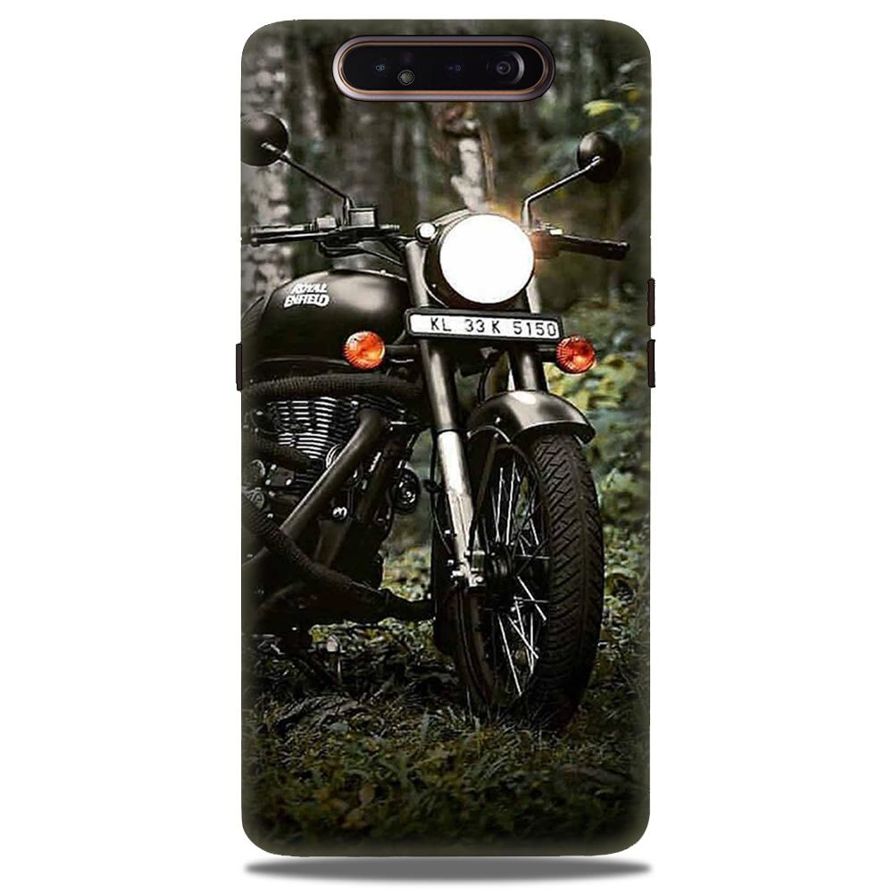 Royal Enfield Mobile Back Case for Samsung Galaxy A90  (Design - 384)