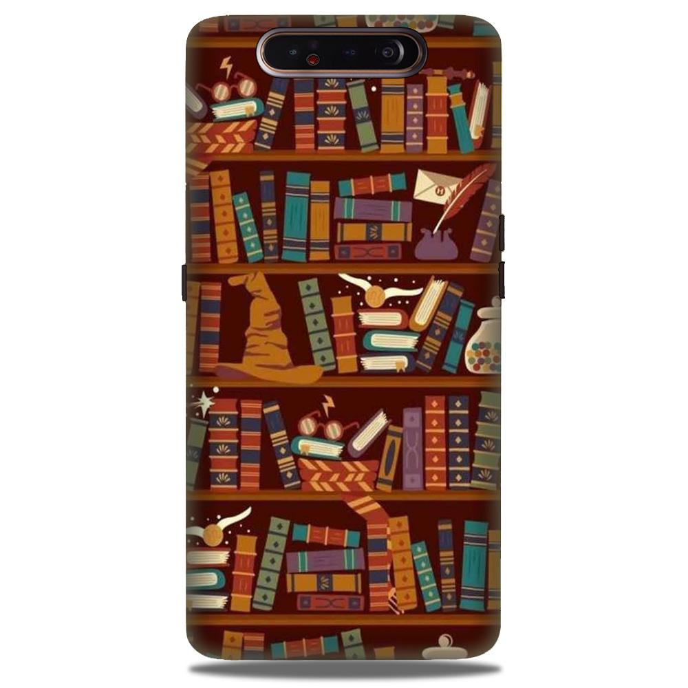 Book Shelf Mobile Back Case for Samsung Galaxy A90  (Design - 390)
