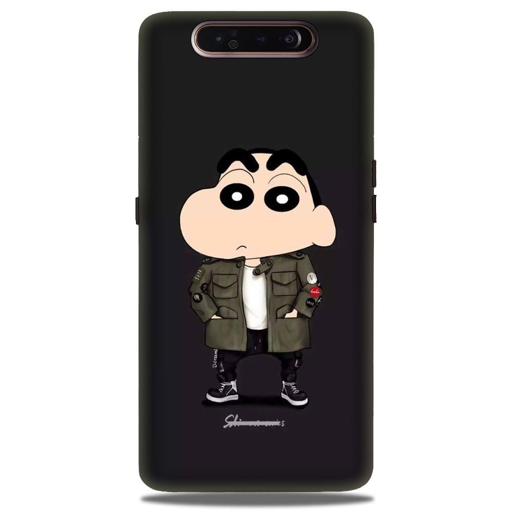 Shin Chan Mobile Back Case for Samsung Galaxy A90  (Design - 391)