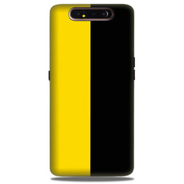 Black Yellow Pattern Mobile Back Case for Samsung Galaxy A90  (Design - 397)