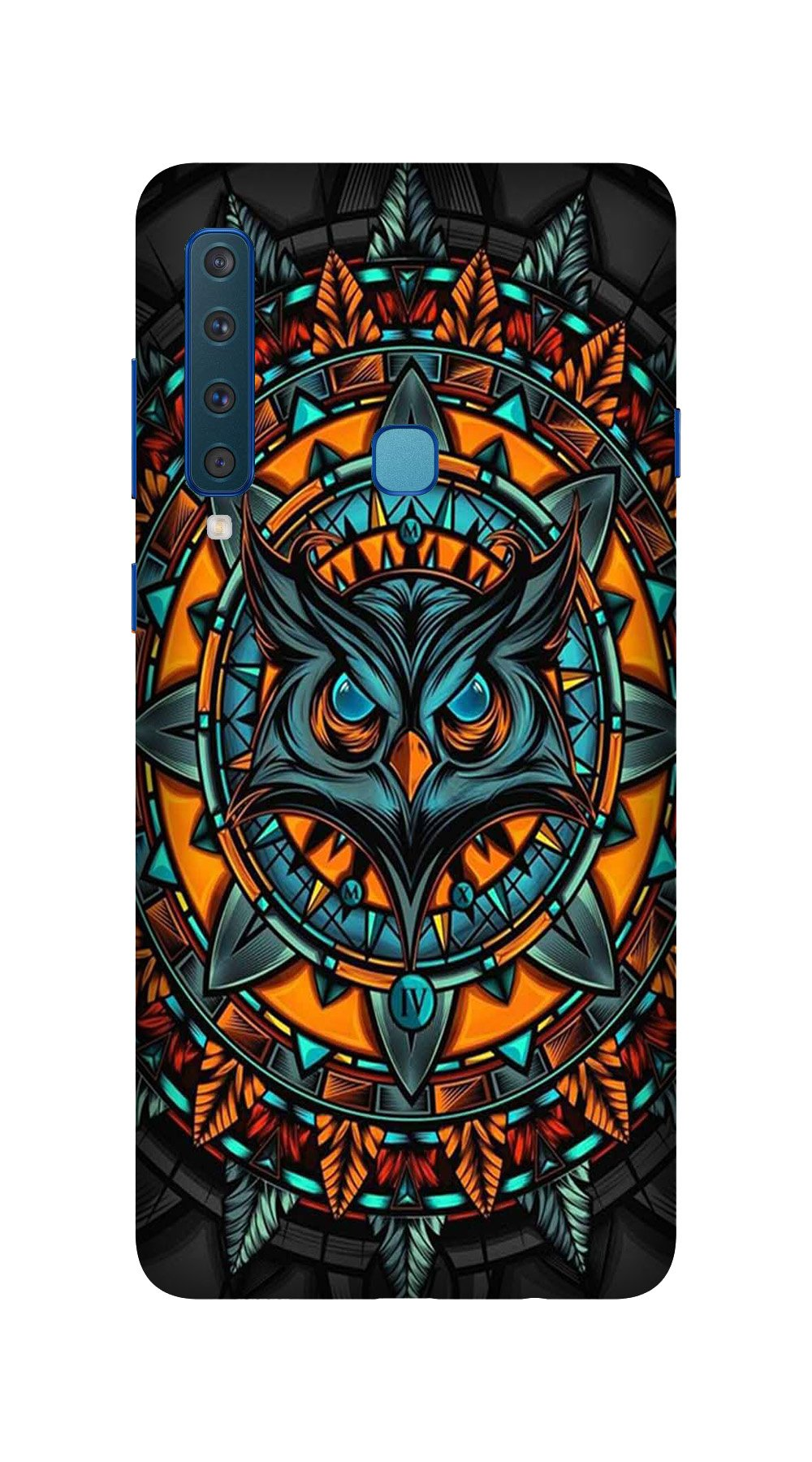 Owl Mobile Back Case for Galaxy A9 2018   (Design - 360)