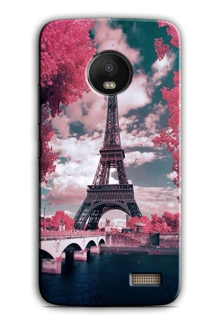 Eiffel Tower Case for Moto E4  (Design - 101)