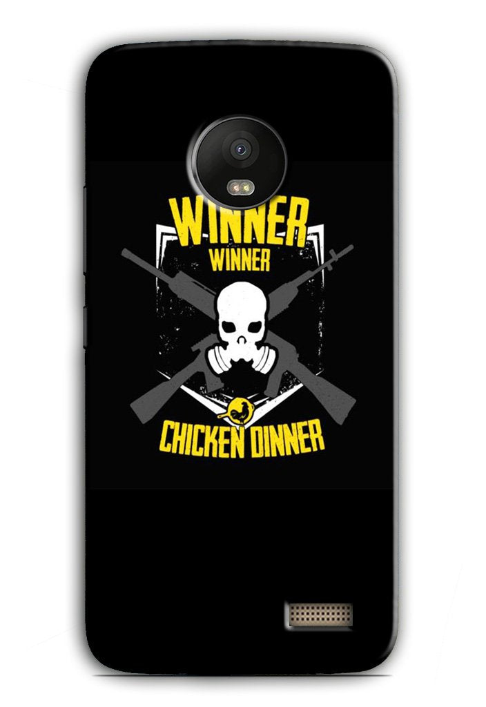 Winner Winner Chicken Dinner Case for Moto E4  (Design - 178)