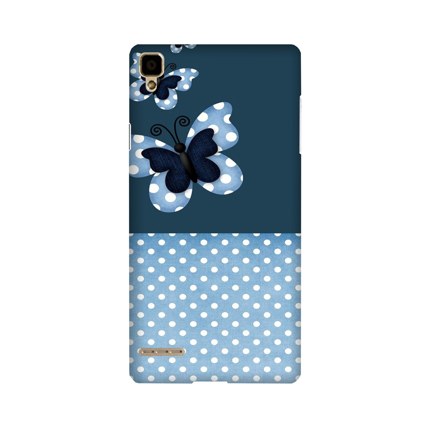 White dots Butterfly Case for Oppo F1