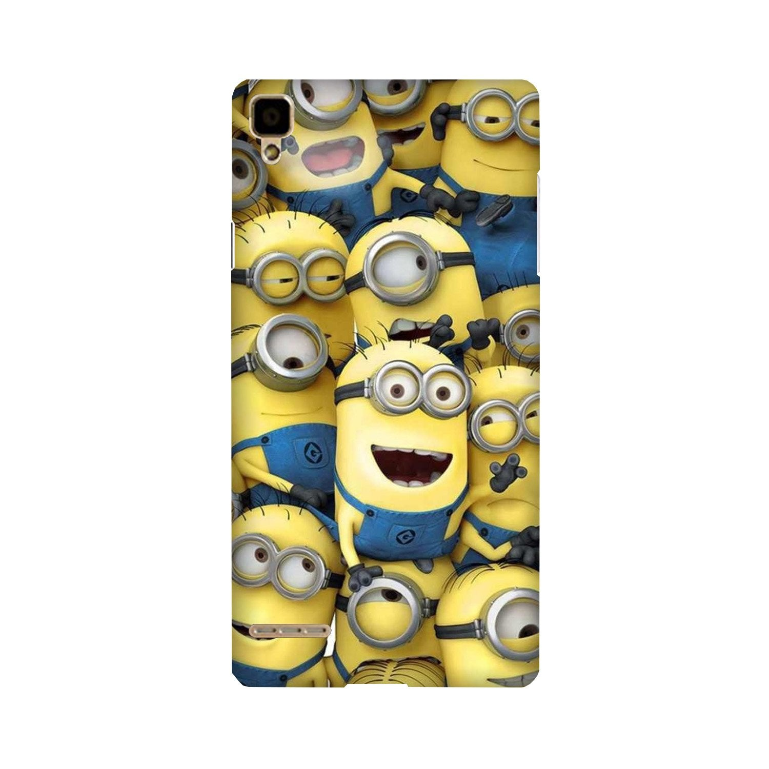 Minions Case for Oppo F1  (Design - 127)